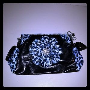 Handbags - Fun sparling blue purse.  No designer